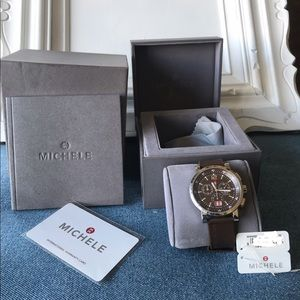 MICHELE Sport Sail Large Brown Dial Head